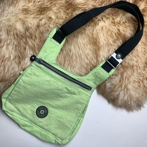 Vintage Kipling Bag Neon Green Crossbody Shoulder